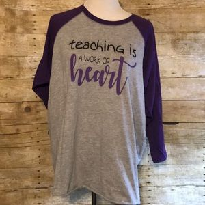 Preschool teacher baseball Ragland tshirt